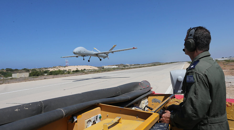 The outside drone pilot maintains eye contact with it during takeoff and landing. (Photo: Gadi Kabalo)