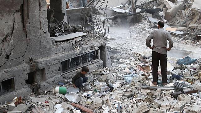The destruction in Damascus (Photo: AFP)