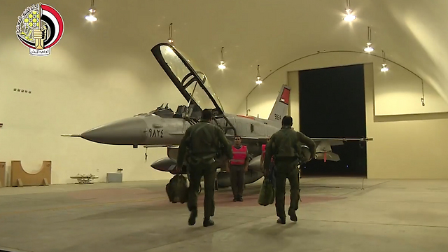 Egyptian Air Force pilots heading out to bomb Sinai