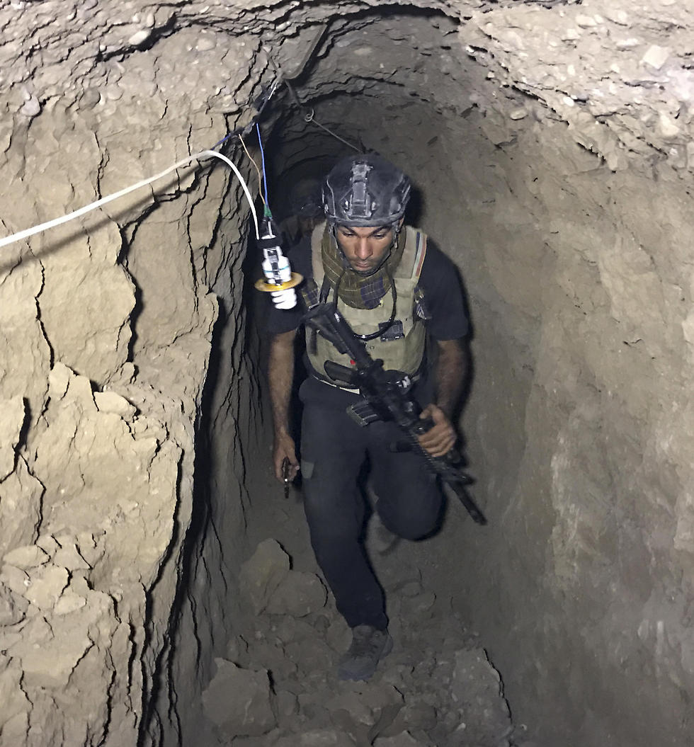Tunnels uncovered in Mosul (Photo: AP)