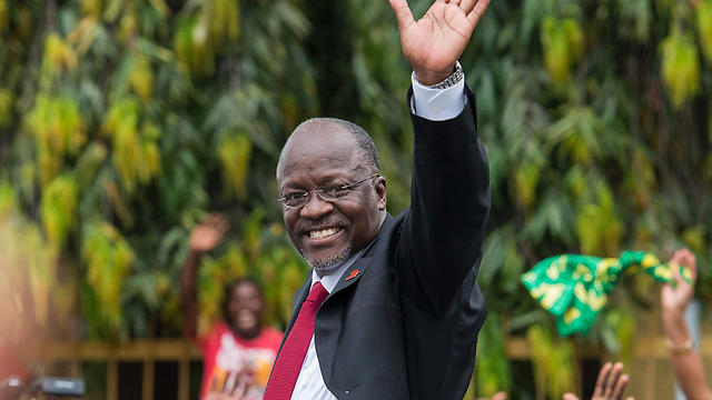 Tanzanian President John Magufuli strengthened relations with Israel (Photo: AFP)