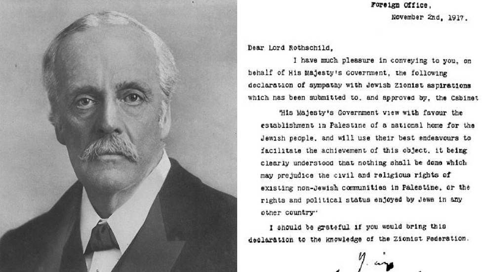 """ארתור ג'יימס בלפור - מי שכתב את """"הצהרת בלפור"""". (צילום: מתוך הויקיפדיה)"""