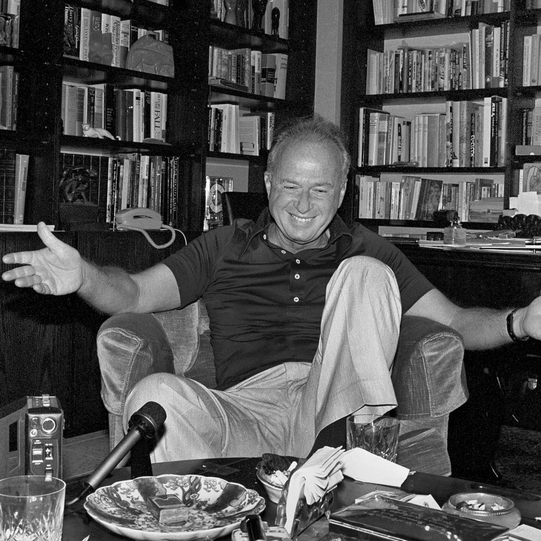 Rabin at his home in Ramat Aviv (Photo: David Rubinger)