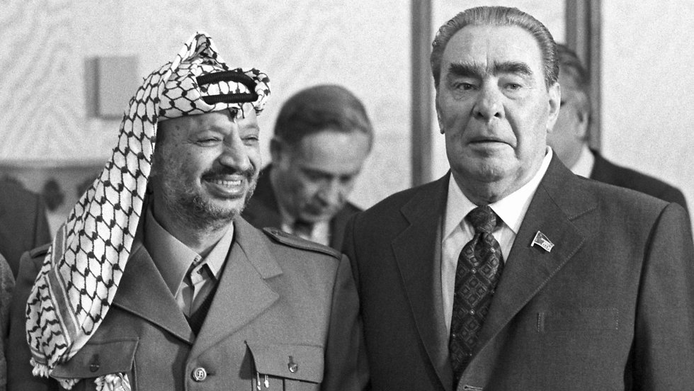 Palestinian leader Yasser Arafat with Soviet Union leader Leonid Brezhnev (Photo: AFP)