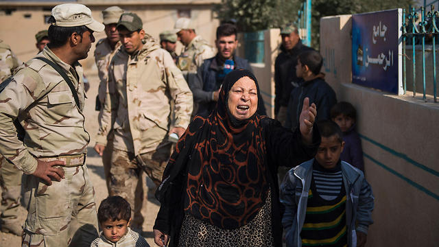 Refugees at Mosul (Photo: AFP)