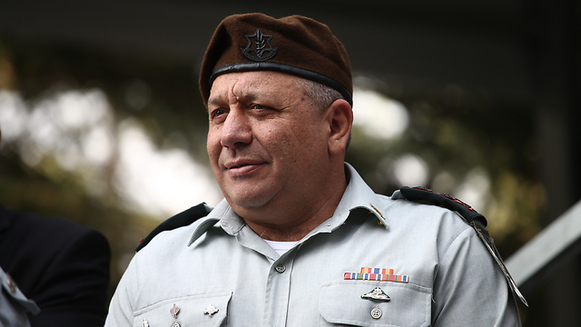 Chief of Staff Eisenkot. The appointments announced were received with without reservations or noise, which is quite unusual  (Photo: Ohad Zwigenberg)