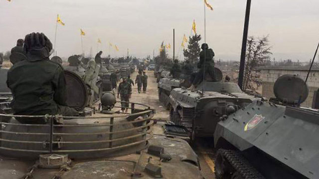 Hezbollah armored vehicles