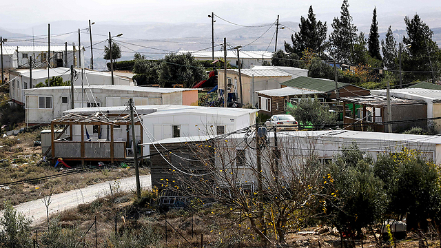Illegal outpost of Amona. Left-wing organizations are legitimizing right-wing hooliganism (Photo: AFP)