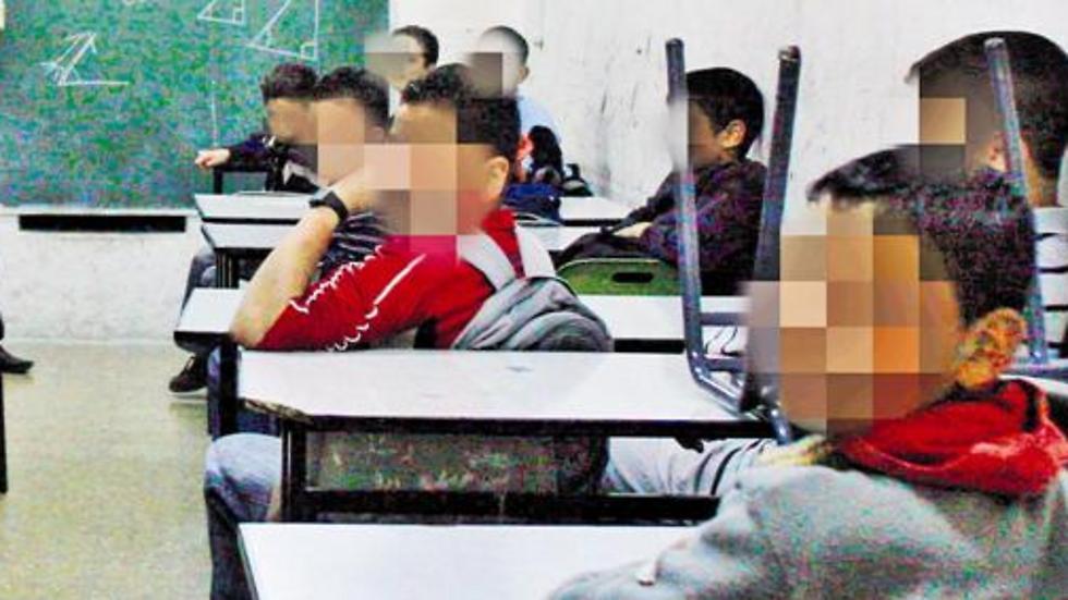 כיתה בבית ספר במזרח ירושלים. תכני שנאה קשים (צילום: אחמד גרבלי)