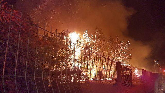 Dolev fire (Photo: Ehud Amiton)