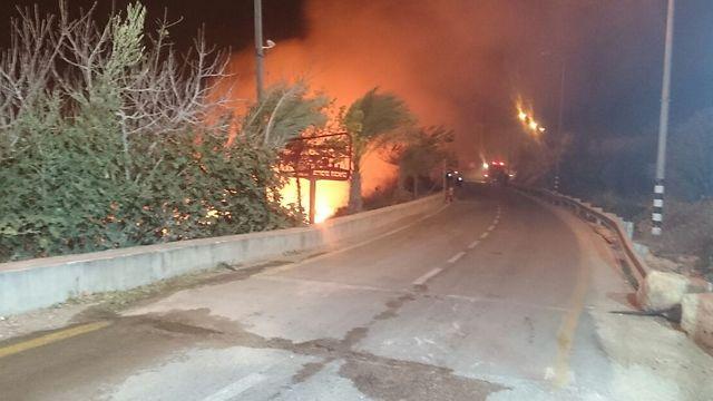 Talmon fire (Photo: Nettanel Slymovics/TPS) (Photo: TPS)