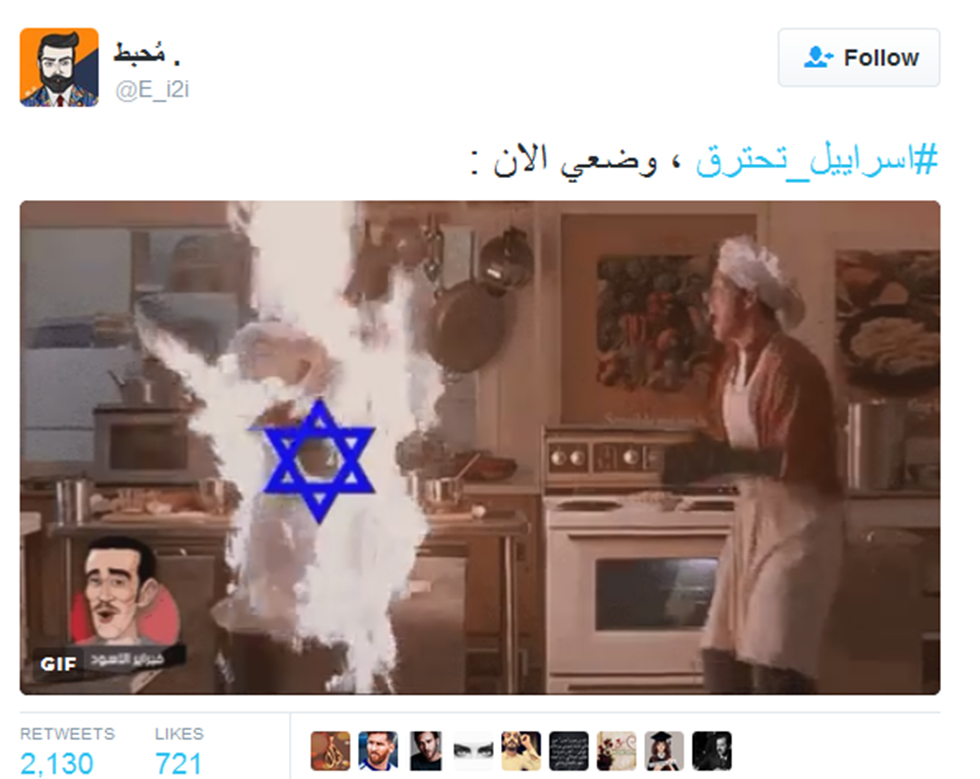 Video mocking the fires in Israel on Arab social media