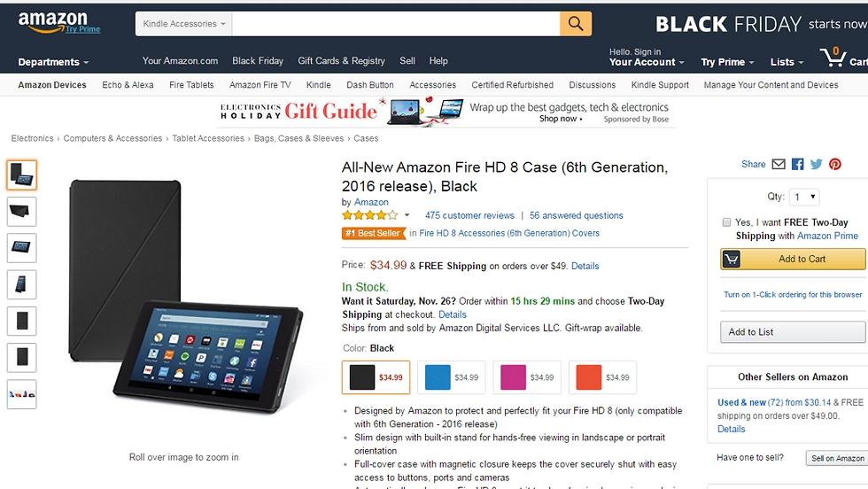 All-News Fire Tablet באמזון (צילום מסך)