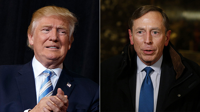 Trump and Patraeus (Photo: Reuters, AP)