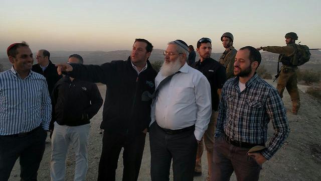 Deputy Defense Minister Eli Ben Dahan visits site
