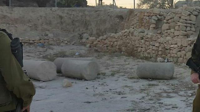 Pillar at the site smashed to pieces