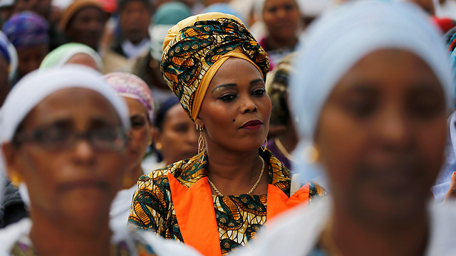 Ethiopian Jewish women in Jerusalem at the Sigid ritual (Photo: Reuters)