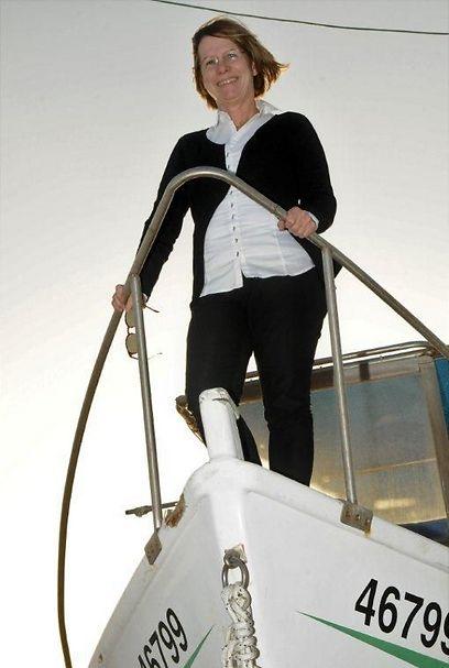 עופרה שטיין, מנהלת קציני ים עכו (צילום: נחום סגל)
