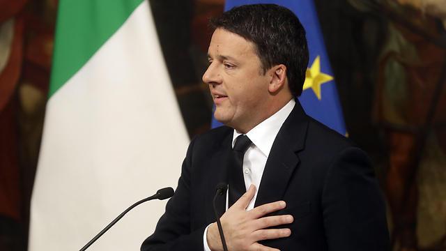 ראש ממשלת איטליה מתיאו רנצי שהתפטר (צילום: AP)