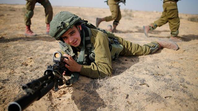 Sgt. Yusef Salutta training in the IDF (Photo: Reuters)