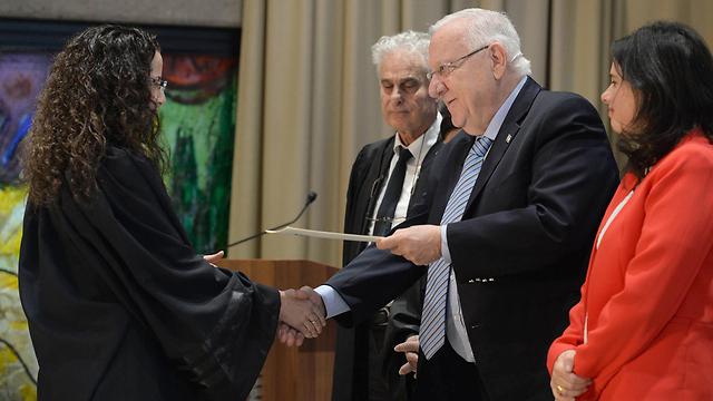 President Rivlin with Miriam Banki (Photo: GPO)