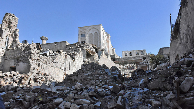 Aleppo in ruins (Photo: AFP)