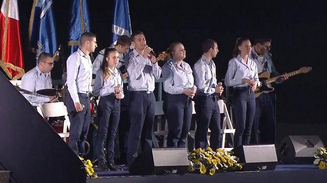 להקת חיל האוויר, בהופעה בפתיחת הטקס (צילום: RR מדיה)