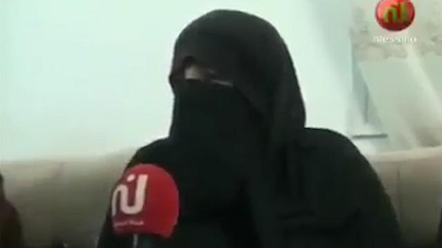 AL-Zahwar's wife being interviewed in Sfax