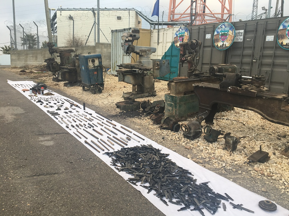 Confiscated weapons and materials (Photo: IDF Spokesperson's Unit) (Photo: IDF Spokesperson's Unit)