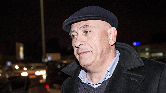 Ghattas arriving at the offices of the police's Lahav 433 investigating unit on Thursday (Photo: Yuval Chen)