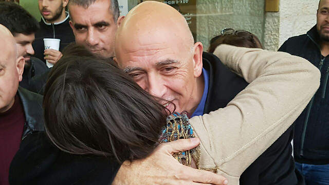 Ghattas after being released from arrest