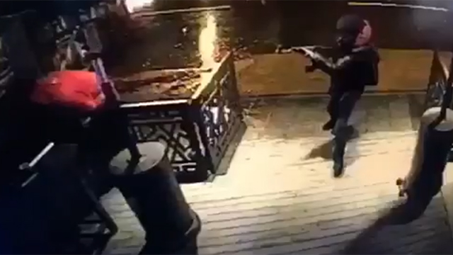 A screenshot of the attacker at the nightclub
