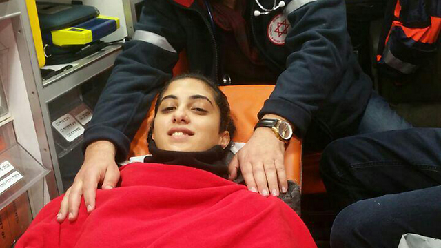 Ruaa Mansour, an Israeli who was injured in the attack