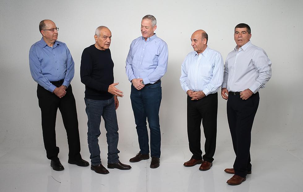 The former IDF chiefs: Ya'alon, Halutz, Gantz, Mofaz and Ashkenazi (Photo: Tomeriko)