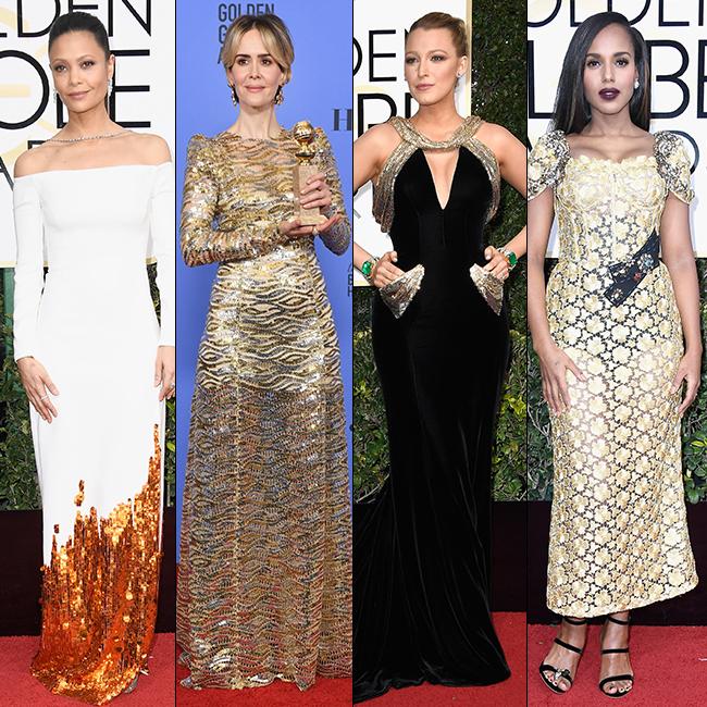 זהב אף פעם לא יוצא מהאופנה: קרי וושינגטון, בלייק לייבלי, שרה פולסון, ת'נדי ניוטון (צילום: gettyimages)