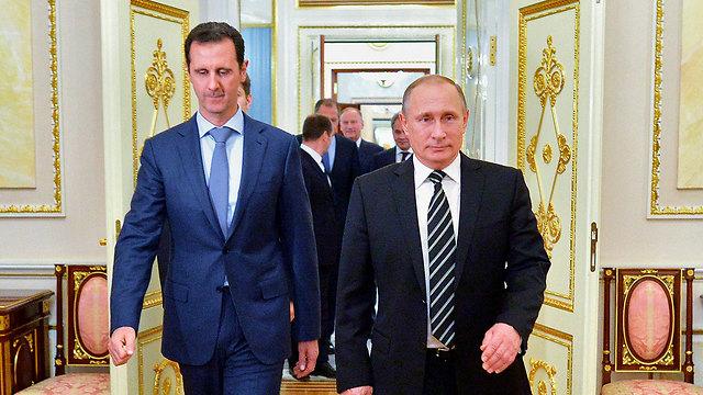 Assad with ally Putin (Photo: AP)