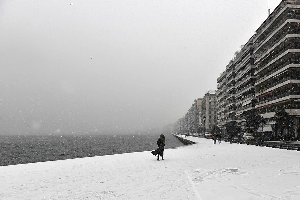 סלוניקי מושלגת (צילום: AFP)