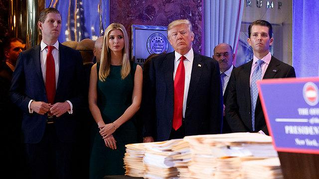 The Trump clan (L to R): Eric, Ivanka, Donald and Donald Jr. (Photo: AP)