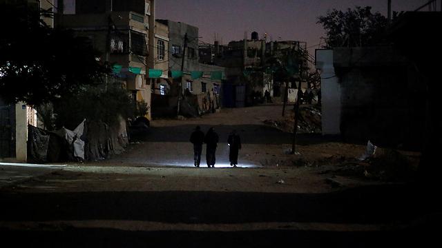 Gaza blackout (Photo: Reuters)
