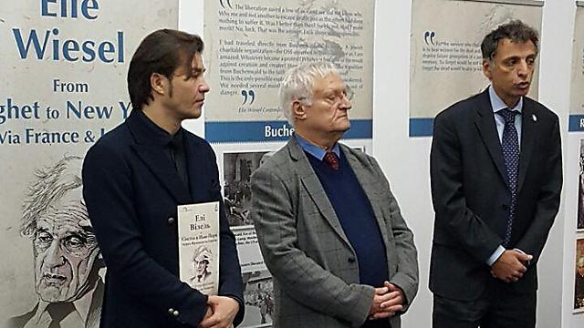 שגריר ישראל באוקראינה אלי בליצרקובסקי, עם חיים צ'סלר (במרכז) ושר התרבות האוקראיני (משמאל), שחקן במשרה מלאה ()