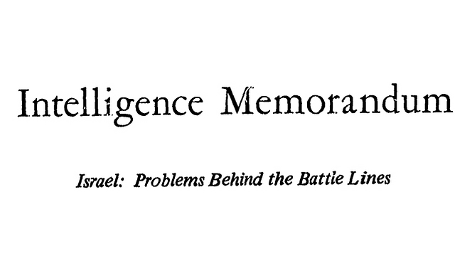Headline of the secret CIA document from 1972