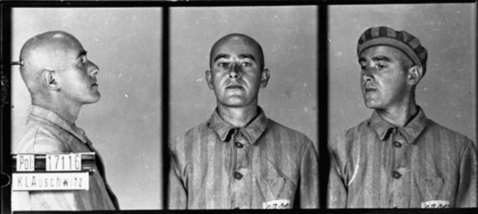 Mugshots of prisoners in concentration camps (Courtesy of Israel Beit Berl College in Kfar Saba)
