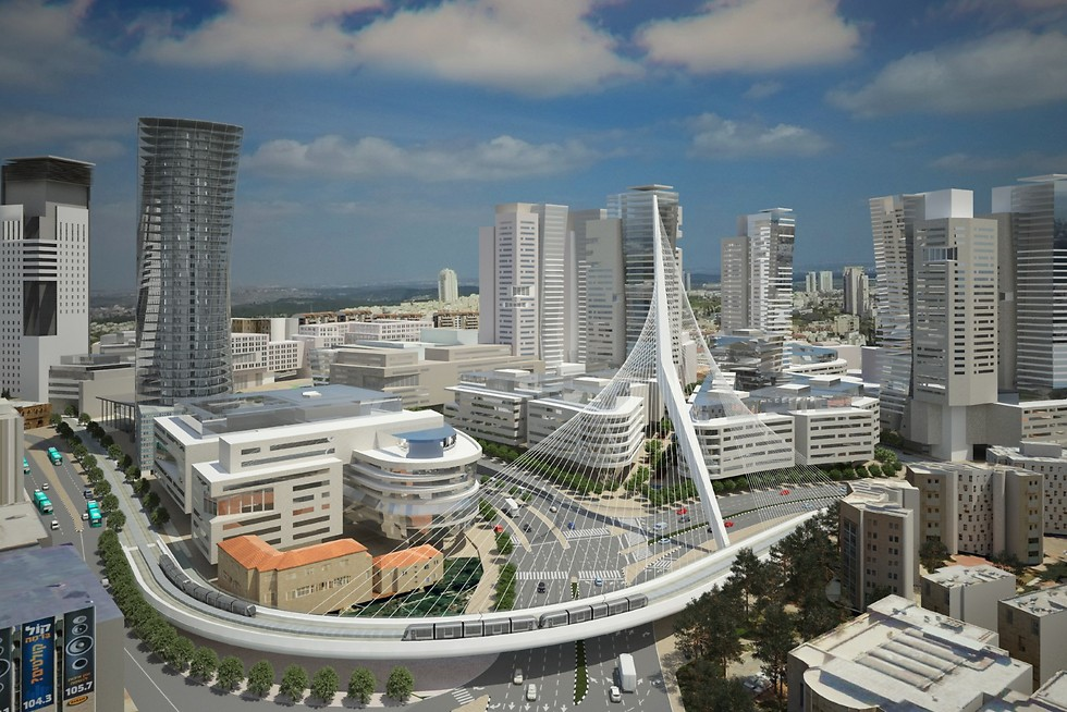 A vision of what the futuren entrance to Jerusalem will look like