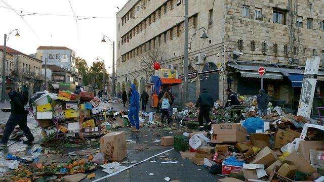 האשפה השבוע ברחובות הבירה