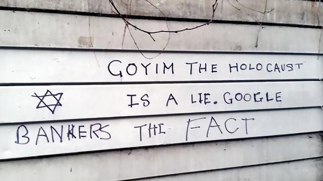 Anti-Semitic graffiti in the UK (Photo: The Community Security Trust)