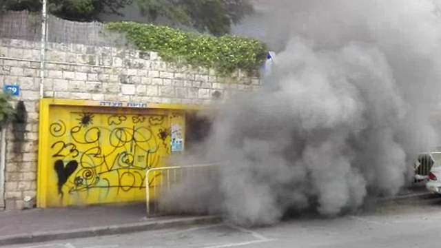 """השריפה בכרמלית. """"רק בנס האירוע נגמר ללא נפגעים"""" (צילום: אורי שמילוביץ)"""
