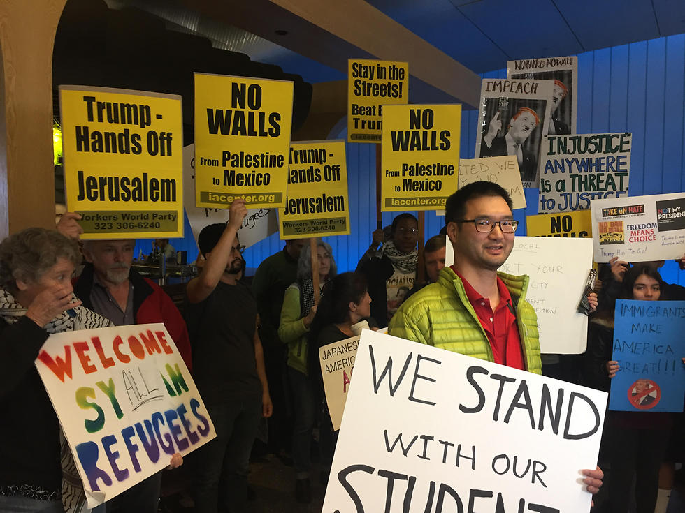 Protests against Trump in LA (Photo: MCT) (Photo: MCT)