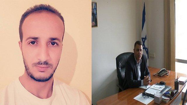 The blogger Merzoug Touati (L) and the diplomat Hassan Kaabia