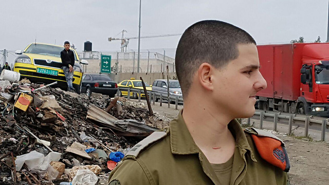'I'm glad that it was I who was wounded and not the civilians' (Photo: Yoav Zitun)