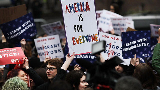 Protestors in New York against the Mulsim ban (Photo: AFP)